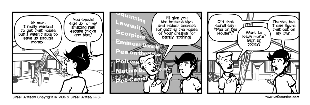 Real Estate Secrets Comic - Unfed Artist